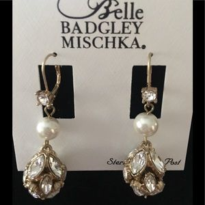 NWT Belle by Badgley Mischka Earrings